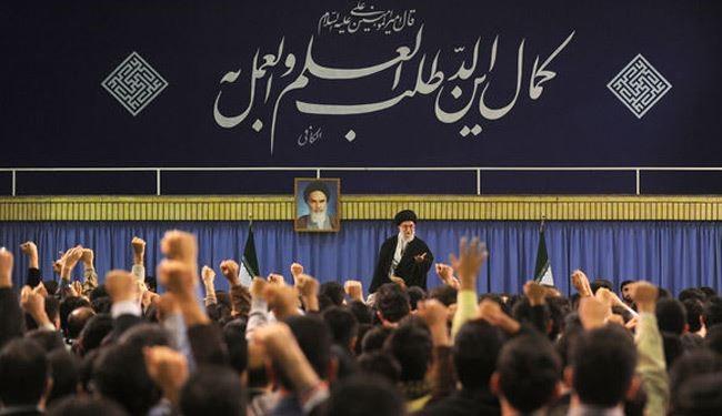 قائد الثورة الإسلامية يؤكد ضرورة الاعتماد على المواهب والطاقات الوطنية