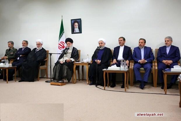 قائد الثورة الإسلامية يؤكد فشل الأعداء في تحقيق طموحاتهم