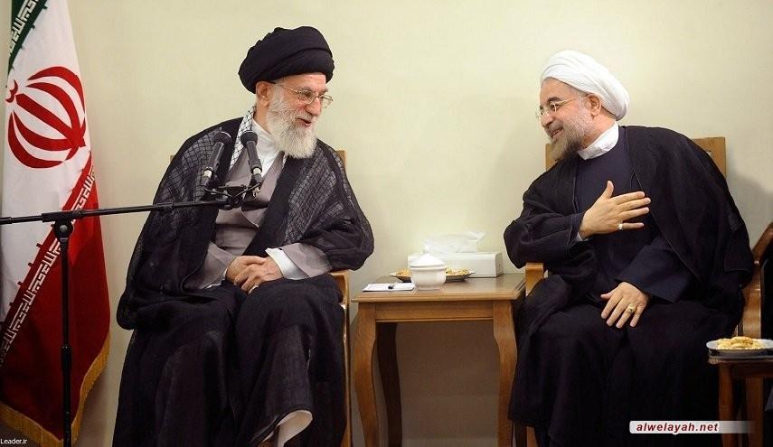 روحاني يهنئ قائد الثورة الإسلامية بمناسبة العام الجديد