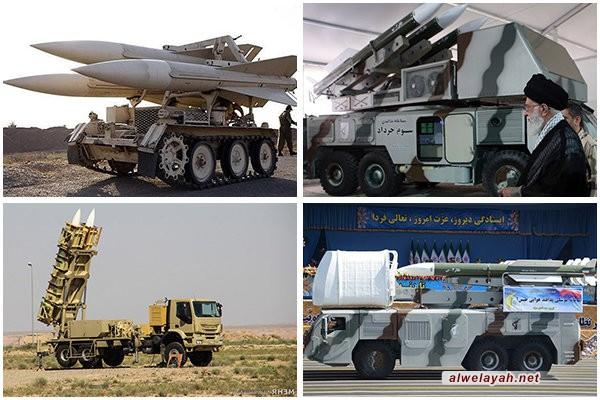 أربع منظومات صاروخية متنقلة تابعة للقوات المسلحة الإيرانية