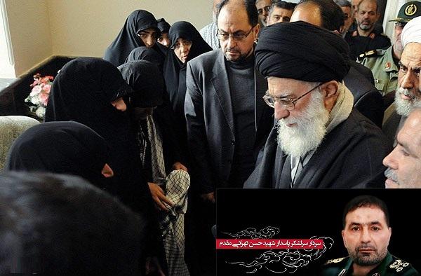 قائد الثورة يزور عائلة الشهيد اللواء حسن طهراني مقدم