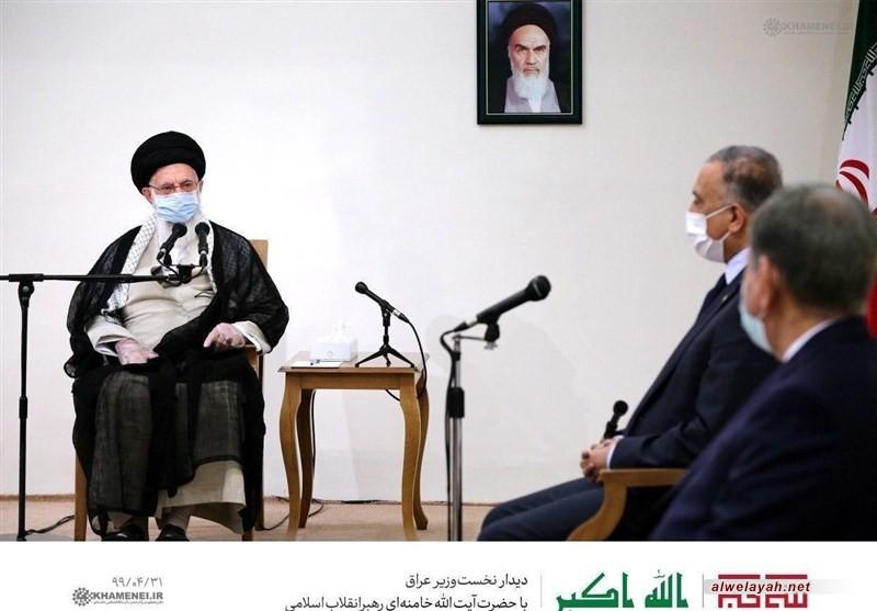 قائد الثورة الإسلامية للكاظمي: إيران لن تنسى اغتيال الشهيدين سليماني والمهندس وستوجه ضرباتها للأميركيين