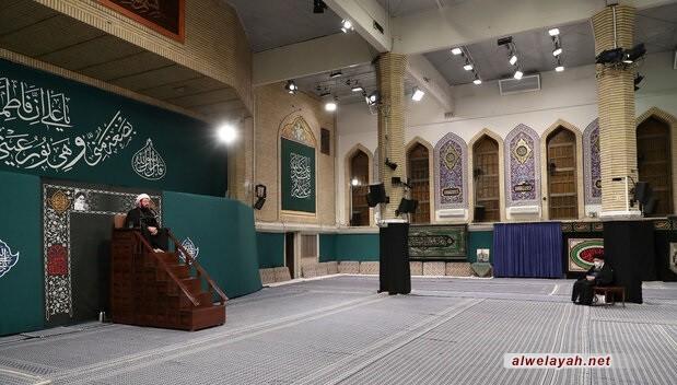في حسينية الإمام الخميني (ره)؛ إقامة الليلة الثانية لمجلس عزاء استشهاد فاطمة الزهراء (س) بحضور قائد الثورة