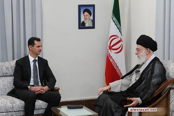 الأسد يهنئ قائد الثورة الإسلامية بكسر الحصار عن مدينة دير الزور