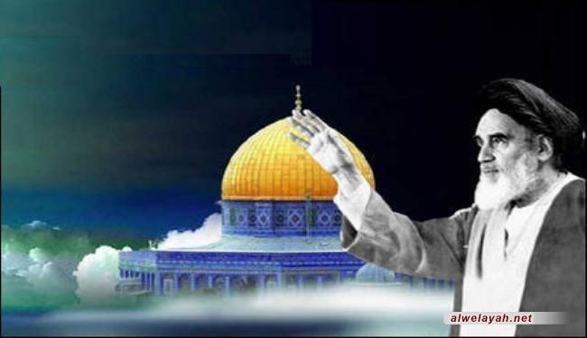 الإمام الخميني يدعو المسلمين في العالم للقيام ضد الاستكبار والصهيونية بمناسبة يوم القدس العالمي